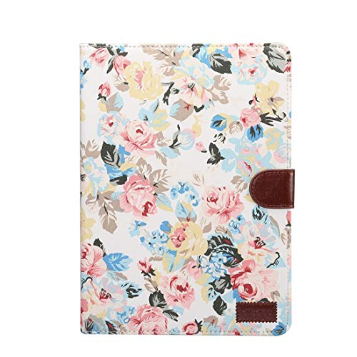 Tablet Protective Clips For iPad Pro 10.5 inch Flower Pattern Cloth Surface Horizontal Flip Leather Protective Case with Holder & Card Slots & Wallet & Sleep(Black) Tablet PC Bag ( Color : White )