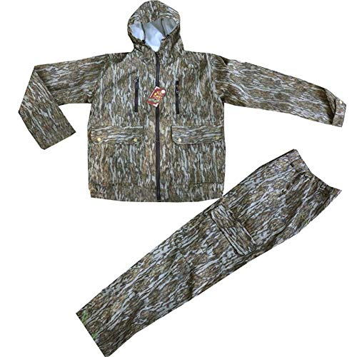 JXS-outdoor Bionic Camouflage Men's Hunting Suit, Uniform Jacket Shirt and Pants, Mosquito Proof Suit Suitable for Fishing