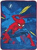 Marvel Avengers Intro Blanket - Ropa de cama infantil con Capitán América, Iron Man y Hulk - Manta de sofá de franela supersuave y resistente a la luz (A8,80 x 60 pulgadas)