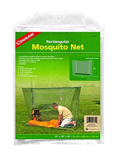 Coghlan's Single Wide Rectangular Mosquito Net, Green, Single Wide / 240-mesh