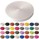 Schnoschi Gurtband Polypropylen 50 Meter lang – viele Verschiedene Breiten und Farben 10mm 15mm 20mm 25mm 30mm 40mm 50 mm (weiß, 20 mm)