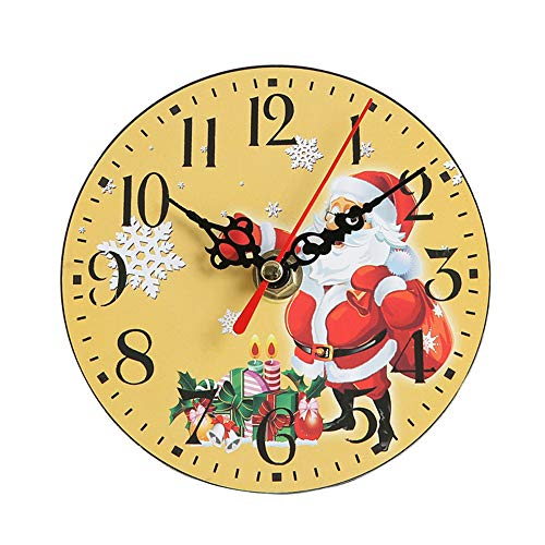 MVPKK Christmas Clock Mute Sweeping Bell Desk Reloj Digital Creativo, Regalos Navideños Y Decoraciones Navideñas