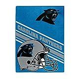NORTHWEST NFL Carolina Panthers Raschel Throw Blanket, 60' x 80', Slant