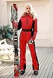 Bewinch Traje De Esquí para Mujer, Damas Invierno Cálido Snowsuit, Una Sola Pieza, Autocultivo, Afile A Prueba A Prueba Transpirable Deportes Al Aire Libre Mejor para El Snowboard De Invierno,S