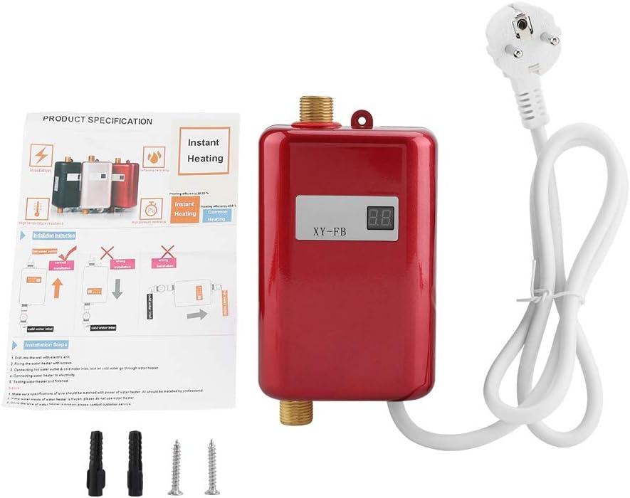 FTVOGUE Mini Elektrische Durchlauferhitzer, 220V 3800W ohne Tank Durchlauferhitzer für Bad Küche Waschen (01)