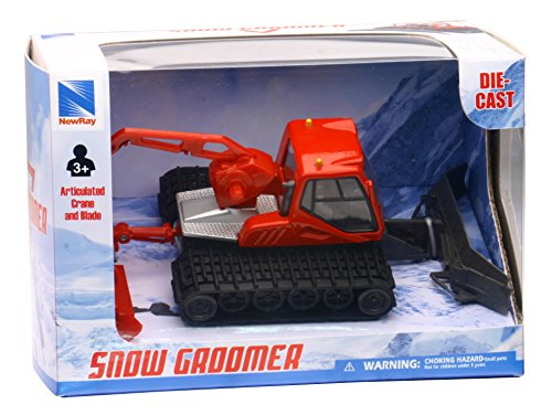 New-Ray S.R.L- 1:50 Die Cast Snow Groomer, Multicolore, 846092