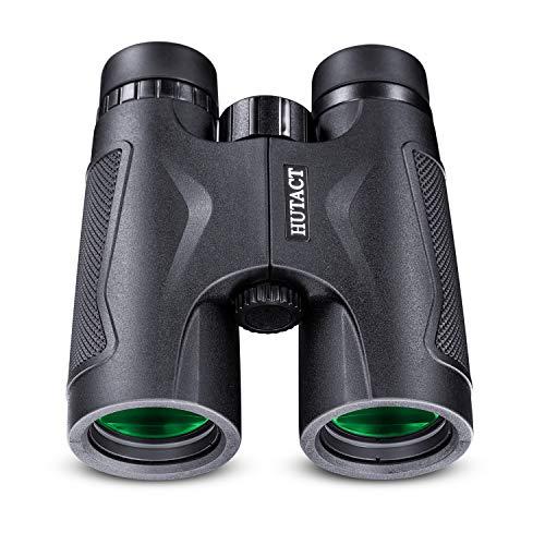 HUTACT Prismáticos Pequeños, Ultra HD 10X42, Lentes Completamente Cubiertos con Multicapa FMC, Adecuados para Viajes al Aire Libre, Observación de Animales y la Mejor Opción para Ver un Concierto.