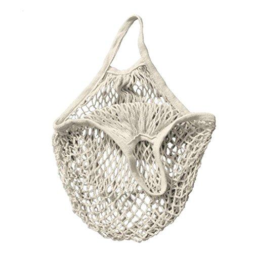 Trada einzelne Schulter Tasche, stilvolle tragbar wiederverwendbar Mesh Net Schildkröte Tasche String Einkaufstasche Obst Lagerung Handtasche Totes Einkaufstasche für Frauen (Weiß)