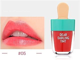 口紅 5色 スーパーアイスクリーム スーパーアイスクリーム リップバーム防水 長持ち リップクリーム レッド スーパーアイスクリーム リップラインの色を鮮やかに描くルージュhuajuan (E)