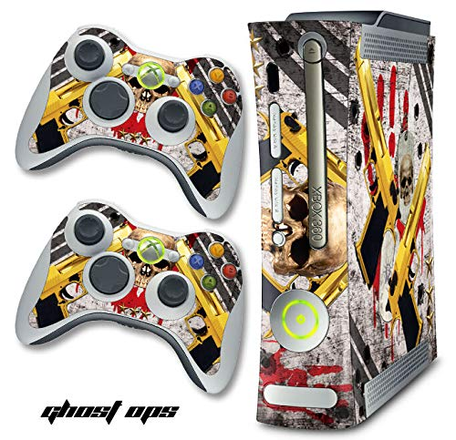 1 Pc of Skin Decal Wrap, Compatible with Xbox 360 Warfare Cod Console Ghosts OPS Original 1-2-3 Black