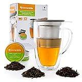 Glass Tea Mug & Cup with Infuser and Lid - Gift Set - 16oz...