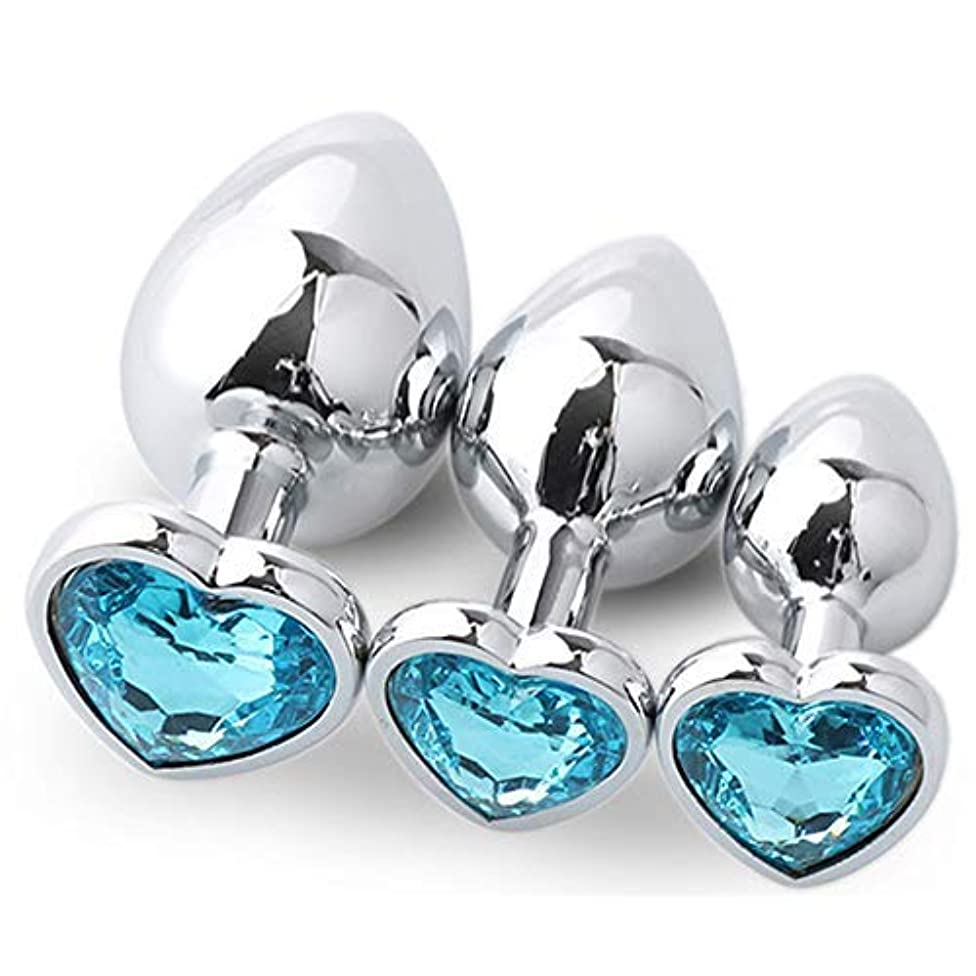 Couples Hoodies Stainless Steel Metal Anale Pluge 3 Piece Set Diamond Anale Pluge,Sky