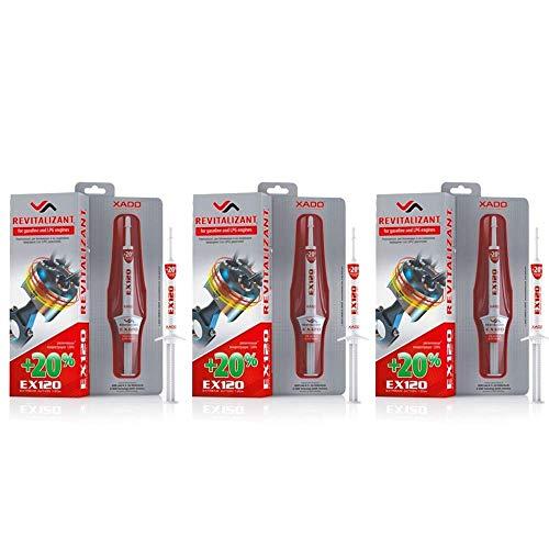 XADO Set für Motorverschleißschutz - 3X EX120 Revitalizant Motor (Benzin & LPG)