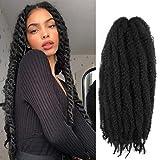 AMELI 6 Packs Marley Braiding Hair for Twists Synthetic Fiber Hair Afro Kinky Hair Marley Braid Hair Extensions (24inch,...