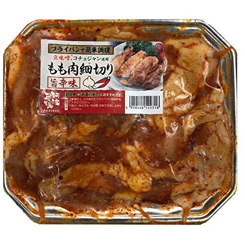 阿波尾鶏 鶏肉 地鶏 熟成鶏肉 鶏焼肉 冷凍鶏肉 冷凍焼肉 旨辛味 もも細切り 400g【冷凍便別送】
