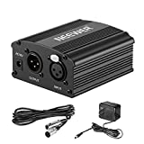 Neewer 1-Channel 48V Phantom Power Supply with Adapter, BONUS+XLR 3 Pin...