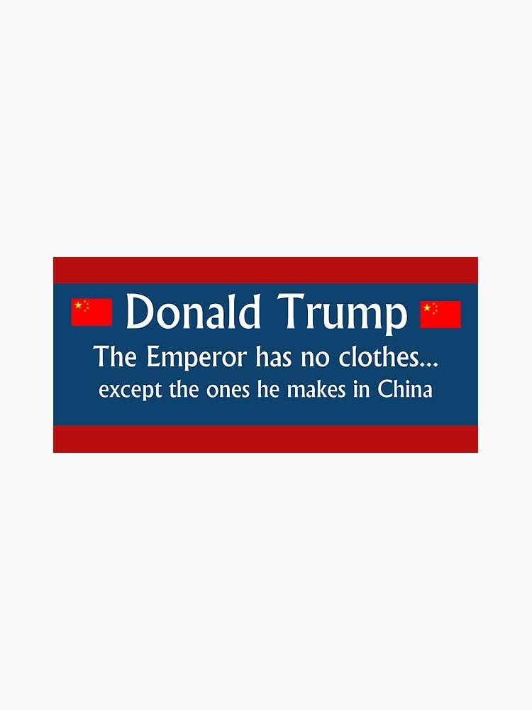 MAGNET Trump: The Emperor has no Magnetic High quality new Bump Car New Orleans Mall Vinyl clothes