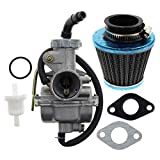 AUTOKAY PZ20 Carb Carburetor 49cc 70cc 90cc 100cc 110cc 125cc Coolster NST for Chinese ATV Quad Go kart 4 strokeSUNL TAOTAO JCL with Gasket Air Filter