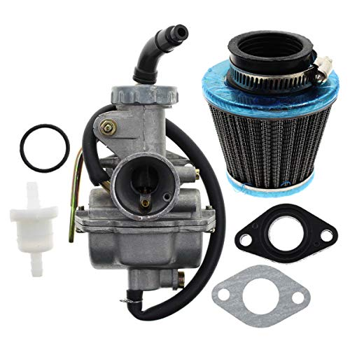 AUTOKAY PZ20 Carb Carburetor 49cc 70cc 90cc 100cc 110cc 125cc Coolster NST for Chinese ATV Quad Go kart 4 strokeSUNL TAOTAO JCL with Gasket Air Filter
