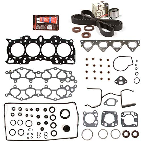 Evergreen HSTBK4011 Head Gasket Set Timing Belt Kit Compatible with/Replacement for 90-01 Acura Integra GS LS RS 1.8 B18A1 B18B1