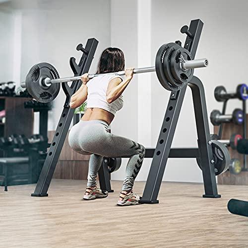 CSBH Fitness Barbell Free Bench Press Soportes de Prensa Equipo de Prensa Hogar y Gimnasio, Soporte de Bastidor de Barra Multifuncional Ajustable, stat Stand Stop Potencia Jaula, Perchero