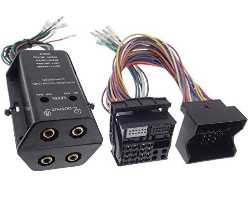 Adaptador de amplificador de 4 canales High Low de salida RCA,...