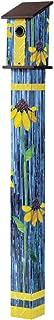 Studio M BP1011 Coneflower Art Glass Birdhouse Pole/Stand