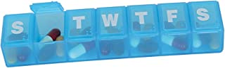 Ezy Dose Travel (7-day) Pill-Medicine-Vitamin Organizer Box   Weekly   Large Compartments   Assorted Colors, Blue, Large (...