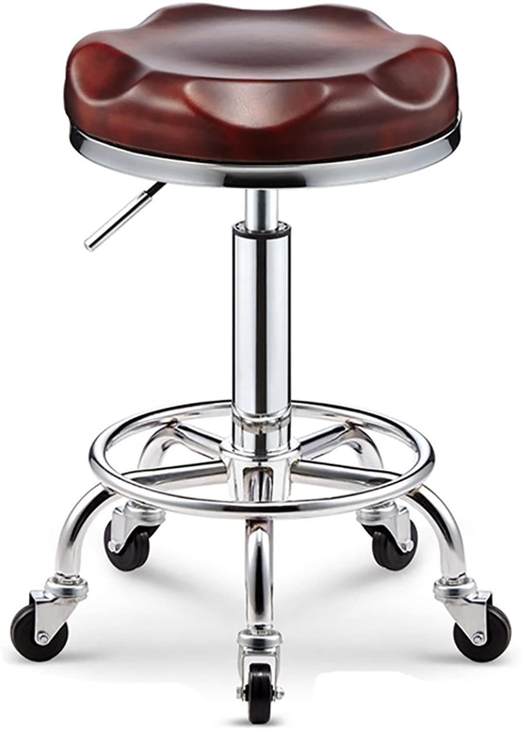 Beauty Salon Swivel Gas Lift Stool Chair,with Wheels, 360 Degree redation,Multi-Colour (color   D, Size   32cm)