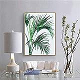 Planta verde 8 pinturas por números Imágenes de bricolaje Pintura al óleo por números Set Regalo Dibujo por números Decoración de lienzo 40X50Cm Sin marco-40x50cm Sin marco