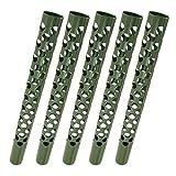 5 Stück Stamm-Schutz 80 cm für Bäume gegen Wild-Verbiss Fraßschäden Baumschutz GREEN24 Rindenschutz 5er Pack (80 cm, 5 Stück)
