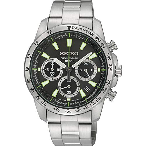 Seiko SSB027 Men's Chronograph Stainless Steel Case Watch
