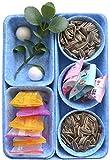 Sistema de organización de fieltro, sistema de organización para cajones de maquillaje, cesta de almacenaje plegable de fieltro, cajones organizador, bandejas, cajones (azul)