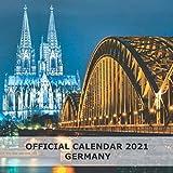 "Germany: 2021 Wall Calendar - Mini Calendar, 7""x7"", 12 Months"