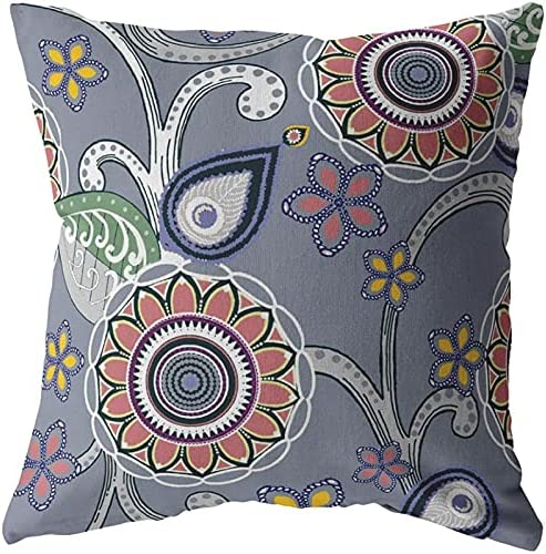 Amrita Sen Designs Daily bargain New life sale Flower Circles Red Orange Closed Pillow Blown
