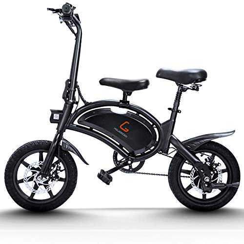 urbetter Bicicleta Eléctrica Plegable, Motor de 400W hasta 45 Km/h, Bateria de Litio 48V 7.5Ah Autonomía de 25-45 Km, 14 Pulgadas Bici Electrica con Pedales para Adulto Unisex - B2