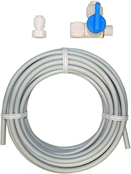 Amazon Com Eastman 60467n Flexible Pex Ice Maker Kit With Stop Valve Adapter 25 White Home Improvement