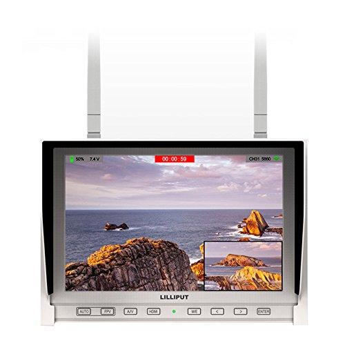 Lilliput FPV 7 inch LED Wireless Screen 5.8GHz Diversity Receiver Monitor 339/DW 1280 x 800 IPS Screen Built-in Battery - White For DJI Phantom 1 2 F450 F550 HS-3D H4-4D Gopro Hero 3 Hero 4 TBS Discovery AVL58 Fatshark Boscam, [Importado de UK]