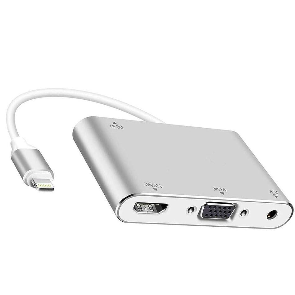 植物のアナウンサー職人Lightning hdmi アダプタ VGA 変換ケーブル Digital AV変換アダプタ 映像変換アダプタ ライトニング HD 1080P 大画面で楽しめ 設定不要 IOS 12対応 iPhone/iPad/iPodに対応
