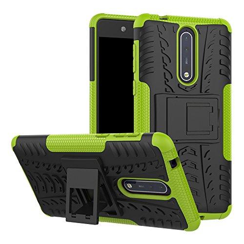 Lucky phone Cover Nokia 8,Custodia 360 Gradi Silicone Slim Case Cover custodie [TPU, Antiurto, Antiscivolo] Cellulare Stilosa Protettiva Bumper per Nokia 8,Verde