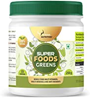 Strava Nutrition Whole food super greens multivitamin and multimineral Powder with 61+ Ingredients 250 gm