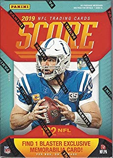 2019 Panini Score NFL Football BLASTER box (132 cards including ONE Memorabilia card)