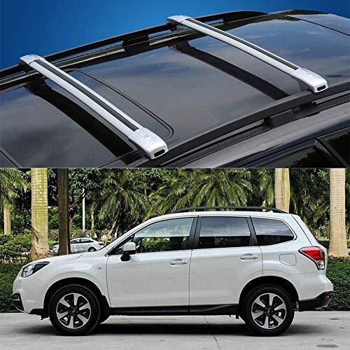 Mmhot 2 Stück Maßgeschneidert for Subaru Forester Aluminiumlegierung Abschließbare Gepäck Gepäckträger Dachträger Schienen-Querstab Crossbar 2008-12 (Size : for Subaru Forester(2013-18))