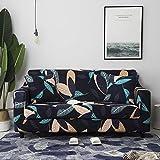 Funda de sofá con patrón de Costura geométrica y de Color, Utilizada para la Toalla del sofá de la Sala de Estar, Funda para Mascotas, Funda de sofá elástica A11 de 2 plazas