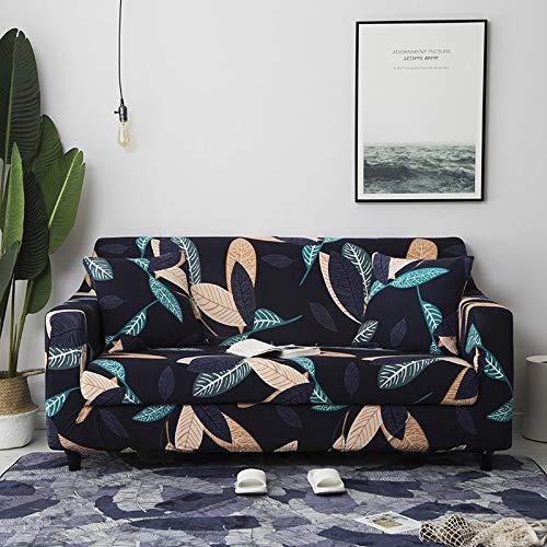 Funda de sofá con patrón de Costura geométrica y de Color, Utilizada para la Toalla del sofá de la Sala de Estar, Funda para Mascotas, Funda de sofá elástica A11 de 4 plazas