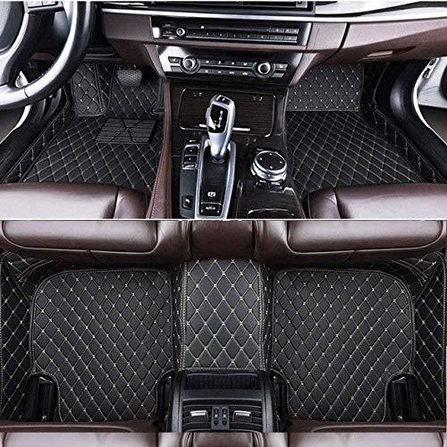 Alfombrillas Coche para Land Rover Evoque Discovery Sport Range Rover Velar Discovery 3/4/5 Freelander Alfombras Coche Y Moquetas para Coches, Negro Beige
