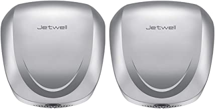 JETWELL 2 unidades de secador de mano automático comercial de alta velocidad con filtro HEPA, resistente acero inoxidable,...