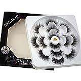 HBZGTLAD NEW 7Pairs 3D Mink Hair False Eyelashes Criss-cross Wispy Cross Fluffy length Lashes Extension Handmade Eye Makeup Tools (MDR-16)