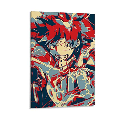 DRAGON VINES Póster de Anime My Hero Academia Idku Midoriya Deku Art Canvas Póster residencial, oficina, decoración de habitación 30 x 45 cm