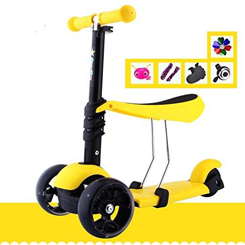 Los Mini-Niños Scooter Caminan Walker Adecuado para Niños De 2-11 Años,Yellow